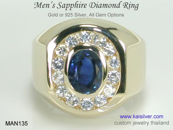 Menu0027s Sapphire Wedding Rings