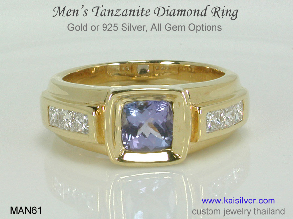 men's tanzanite wedding ring