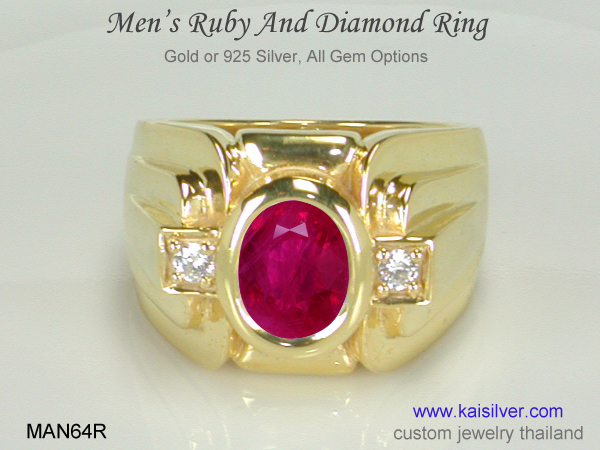 ruby wedding ring for men