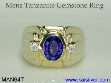 tanzanite wedding ring for men